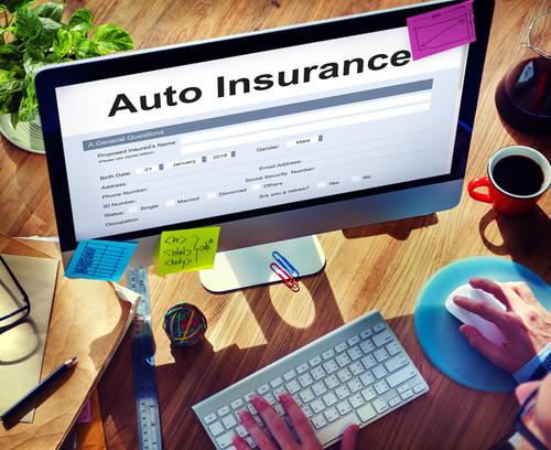 Auto Insurance Car Form Concept